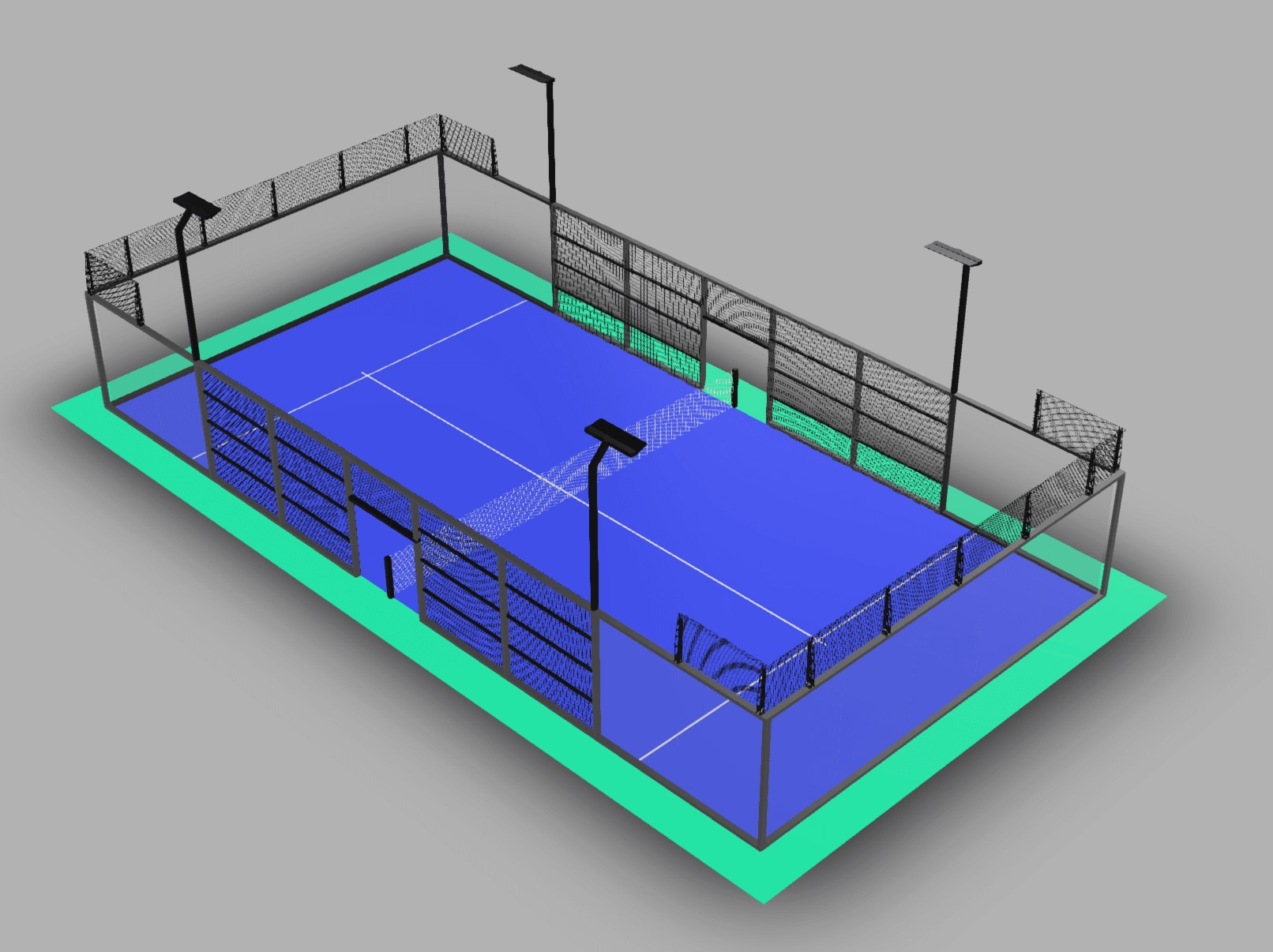 Aerial shot of a padel court